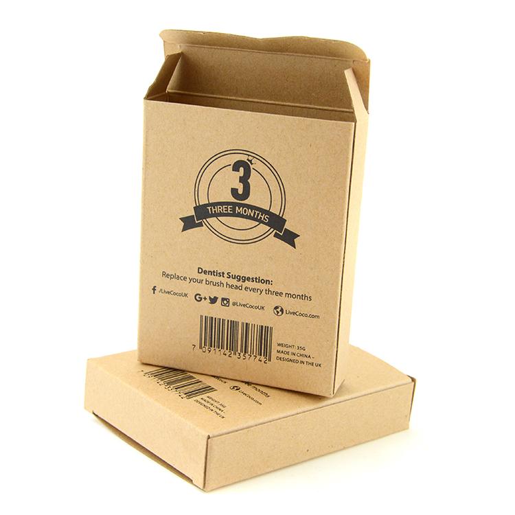 简易环保牛皮纸包装盒 适用于日用百货数码配件 CZ-O004