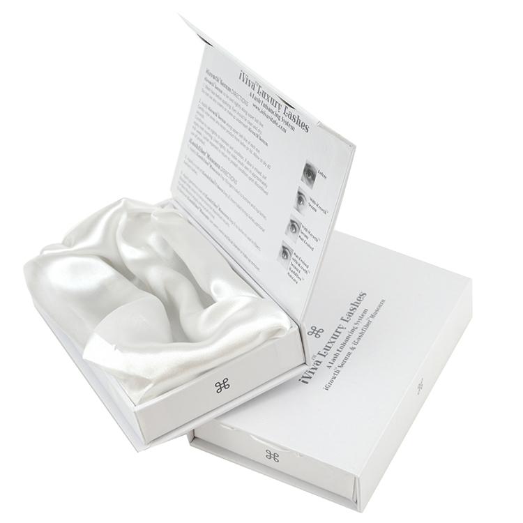 精装翻盖书型盒 带绸缎内衬 美容院礼盒 CZ-C024