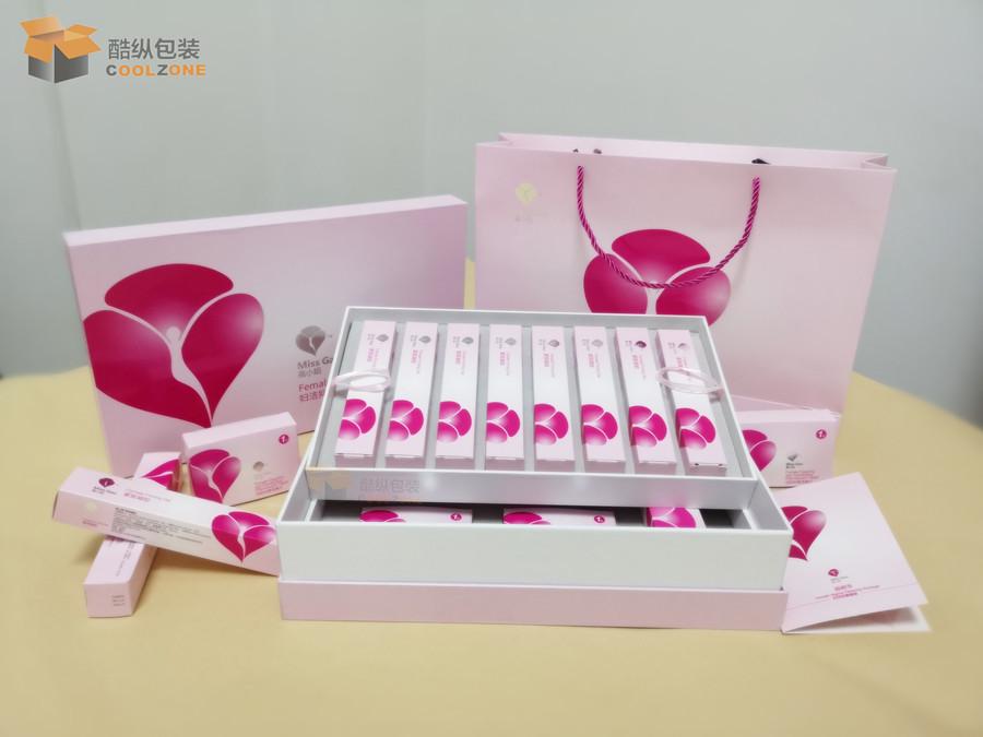 女性私护凝胶套装礼盒包装
