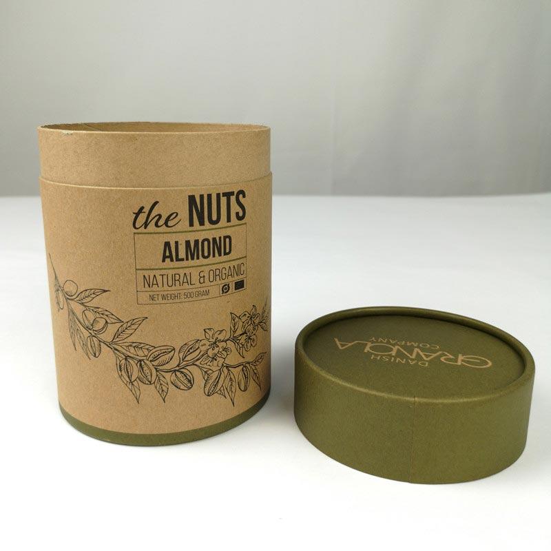 环保牛皮纸筒纸罐  茶叶咖啡纸罐